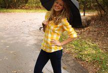 Rainy days outfits ~ Tenues pour jours de pluie