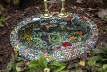 mosaic wash basins