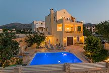 Villa Nikolaos / Villa Nikolaos gives its guests a warm welcome to the cretan countryside and the picturesque village of Roussospiti, where it's conveniently situated, just 6 km away from Rethymno town and its long sandy beach! In the village, within walking distance from the Villa, guests will find two tavernas, a traditional cafe and a well-stocked mini market!