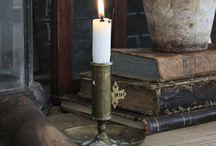 Świeczniki, świece, latarenki