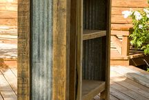 Corrugated metal & barnwood