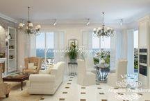 Дизайн интерьера квартиры в Средиземноморском стиле в Черногории / Для квартиры в Черногории разработан изысканный дизайн в средиземноморском стиле. Благодаря светлой цветовой гамме в гостиной, в коридоре и спальни много естественного света. Мебель подчёркивает  атмосферу домашнего тепла. Интерьер в средиземноморском стиле подойдёт для людей любящих комфорт и красоту.