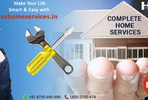 Ez Home Services at Your DoorSteps! / Now get the online home services experts on your fingertips. EzHomeServices is providing comprehensive list of home services online in to your down town. Now customers can get their desired home solutions such as Electrician, Plumber, Carpenter, Pest Control, AC technician, Washing machine solution etc. without going down stairs on single click only by simply visiting the company website.