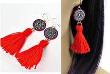 Tassel jewelry handmade