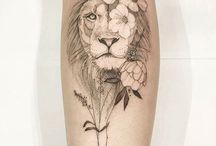 Tatuaje de leona
