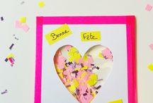 Cartes de voeux / Des cartes de voeux à imprimer et des cartes de voeux à fabriquer avec les enfants de maternelle ou de primaire ! Plein de jolies façon de dire Bonne Année !