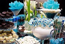 Winter wonderland white, blue, silver / Wedding blue, white, silver / by Amber Woodall