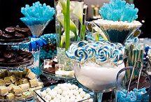 Winter wonderland white, blue, silver / Wedding blue, white, silver / by Amber Woodall