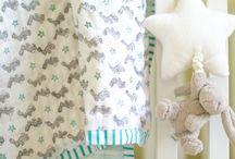 Soft pink, green, grey nursery / Soft pink, green, grey nursery