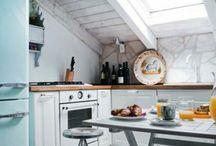 podkrovní kuchyn