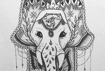 mão de fátima /  elefante