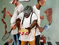 Black Art Images for Kitchen and Cuisine Enthusiasts