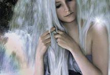 Lange weiße haare