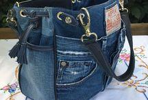 Nähen Taschen / DIY Taschen Jeans