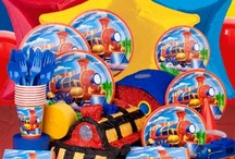 Train Birthday Party Ideas / Thomas and friends has inspired lots of birthday train parties. So ALL ABOARD and make the next stop BirthdayInABox.com where you can find decorations, invitations, tableware and favors for your little train lover. / by Birthday in a Box