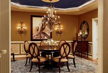Round Table Dining Rooms / Dining rooms designed with a round dining table, intimate dining and conversations.