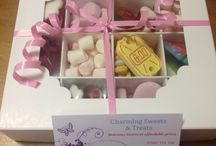 Sweet boxes / Boxes of all sizes filled with sweets and treats
