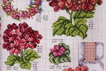 cross stitch geranium