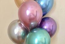 Decoración globos cromados