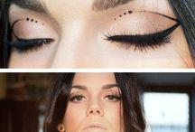 Creative eyeliner / Machiaje creative cu tus de ochi.