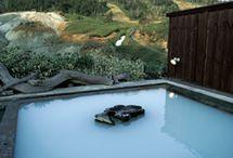Hot spring + mountain