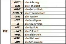 Deutsch - German - Almanca / Grammatik - Grammer - Wörter - Words - Dilbilgisi - Kelimeler