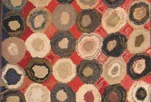 Antique Hooked & Flat Weave Rugs / Even companies like ours get lots of inspiration from these primitive and raw early American / Canadian hooked rugs.