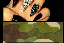 Nails / Camouflage stilleto nails