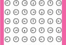 Keeping Time / Clear stamp from pinkandmain.com