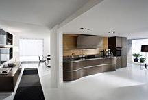 Contemprary Dune 2015 NYC / The inspiration for the Dune began with the simple idea to seamlessly connect the kitchen to the living space. Dune is a unique contemporary kitchen cabinet design without handles. It is defined by asymmetrically curved base units and echoing flowing forms found in nature.