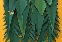 decoração c plantas de papel