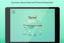 Thermal Properties of the Matter / Thermal properties of matter is one of the best educational apps which is designed to help students understand about thermal properties and thermal capacities of matter.