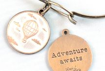 """Reminder Token Charms / These inspirational token charms can be purchased on an 18"""" necklace or a bangle bracelet with closure. Lead free, nickel free, hand painted, custom colors available!"""