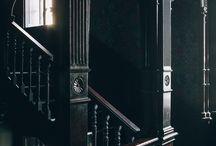 d a r k    i n t e r i o r / Black and dark colours of the interior and design.