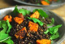 Salads / Roasted sweet potato and lentils