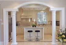 Kitchen arches with pillars