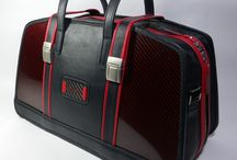 Squadra Carbono / Luxury bag made with carbon fibre and leather