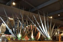 Agave Sculpture Light / Blue agave plant, the single plant species from which Mexican TEQUILA is produced.