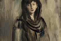 Picasso Kvinna i Svart Mantilla