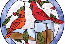 Stained Glass - Cardinals