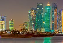 Doha at night / #quatar #doha #framedpictures #pictureonthewall #interiordesign #janosdevcsics
