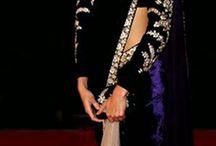 Bollywood Dresses Online / Bollywood Dresses Online | Anushka Sharma in Velvet Blue Saree