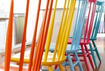 Mix n' match painted chairs