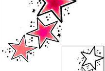 Star Tattoos / Star tattoo designs created by Tattoo Johnny artists