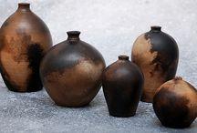 smoke fired, pit fired ceramics