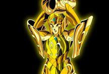 12 armaduras de ouro dos 12 signos e das 12 constelações do zodíaco.