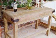 Butchers Block Table / Finding the perfect butchers block table for any kitchen.