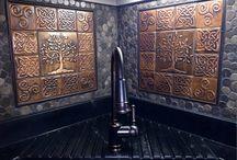 copper wall tiles / copper tiles for your backsplash