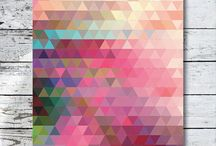 Geometric Design Inspiration / Contemporary geometric design inspiration.
