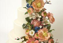 modelo decorar torta en flores